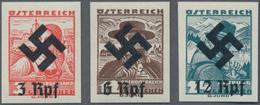 Österreich: 1938, Nicht Verausgabte Freimarken Mit Hakenkreuz-Aufdruck 3,6 U. 12 Rpf Postfrisch Unge - 1850-1918 Imperium