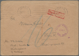 Österreich: 1945, KURIERPOST, Unfrankierter Brief Mit Absenderangabe Aus RIED I. Innkr., Nach Wien. - 1850-1918 Imperium
