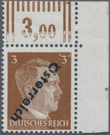 Österreich: 1945, I. Wiener Aushilfsausgabe, Nicht Verausgabte 3 Pf. Braun (helle Nuance) Mit Kopfst - 1850-1918 Imperium