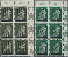 Österreich: 1945, III. Wiener Aushilfsausgabe 30 Pf. Grünoliv Und 42 Pf. Smaragdgrün Jeweils In Type - 1850-1918 Imperium