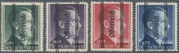 Österreich: 1945, 1 Pf Bis 5 RM 'Grazer Aufdruck', Dabei 1 RM Gezähnt K 14 In Type I, 2 RM Und 3 RM - 1850-1918 Imperium