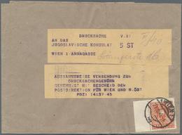 Österreich: 1945, 8 Pf Braunorange 'Wappen', Als EF Auf Drucksachen-Streifband Der 3.Gewichtsstufe I - 1850-1918 Imperium