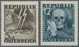 """Österreich: 1946, Nicht Ausgegebene Marken 5g+3 Und 12g+12 """"Blitz"""" Und """"Maske"""" Postfrisch, Laut FFA - 1850-1918 Imperium"""