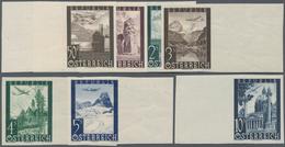 Österreich: 1947, Flugzeug über Landschaften Und Gebäuden, 7 Verschiedene Postfrische Ungezähnte Sei - 1850-1918 Imperium