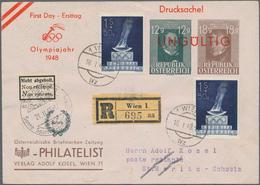 Österreich: 1948, Ausgabe Olympische Spiele 1948 In London 1S + 50g Blau Auf Ungültig Gestempelten P - 1850-1918 Imperium