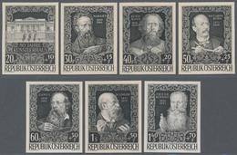 Österreich: 1948, 80 Jahre Künstlerhaus, Komplette Serie Als Geschnittene Phasendrucke In Schwarz. - 1850-1918 Imperium