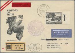 Österreich: 1952 (7.1.), Flugpost Vögel 20 S. 'Steinadler' Schmuck-FDC Per Luftpost, Einschreiben Un - 1850-1918 Imperium
