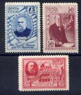 RUSSIE - 831/833**  - N.E. JOUKOVSKI - 1923-1991 USSR