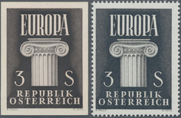 Österreich: 1960, Europa 3 S. Als Ungezähnter PROBEDRUCK In Bräunlichschwarz Auf Ungummierten Dicken - 1850-1918 Imperium