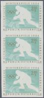 """Österreich: 1963, Olympische Winterspiele Innsbruck '64, 2.20 Sch. Eishockey Mit Abart """"Farbe Schwar - 1850-1918 Imperium"""