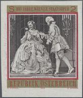 Österreich: 1969, 100 Jahre Wiener Staatsoper 2 S. 'Der Rosenkavalier' UNGEZÄHNT Auf Weißen Gummiert - 1850-1918 Imperium