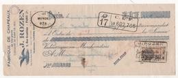 TRAITE FABRIQUE DE CHAPEAUX EN TOUS GENRES J. ROZEN PARIS 3e RUE BRANTOME 1934 / LASMAYOUS CHAPELLERIE A MENDE LOZERE - Kleding & Textiel