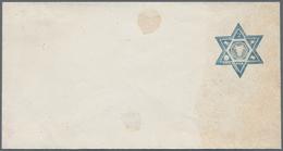 Rumänien - Ganzsachen: 1865, Prestamped Envelope ESSAY With A Star-shaped (hexagram) Embossed Imprin - Ganzsachen
