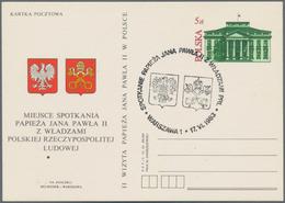 Rumänien - Ganzsachen: 1983, 2nd Visit Of Pope John Paul II., Stationery Card 5zl. Red/green With Im - Ganzsachen