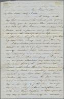 Rumänien - Besonderheiten: 1853, DISINFECTED MAIL, Entire Letter From Pera (Beyoglu, Turkey), Dated - Rumania