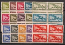 Indochine - 1942-44 - Poste Aérienne N°Yv. 24 à 38 - Série Complète - Blocs De 4 - Neuf Luxe ** / MNH / Postfrisch - Indochine (1889-1945)