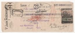 TRAITE FVve JULIEN FEIGENHEIMER LYON RUE QUATRE CHAPEAUX 1934 / LASMAYOUS MODE A MENDE LOZERE - Kleding & Textiel