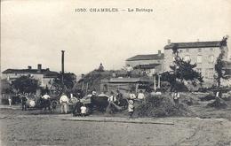 CPA  42 CHAMBLES Le Battage - Francia