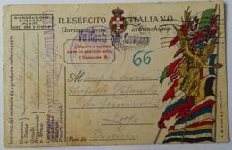CARTOLINA FRANCHIGIA 1918 STAMP. A.BINDA (AX1 - 1900-44 Victor Emmanuel III
