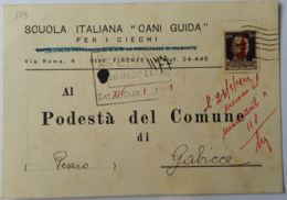 CARTOLINA POSTALE RSI 1944 C.30 SS-SCUOLA ITALIANA CANI GUIDA (AX2 - 1944-45 République Sociale