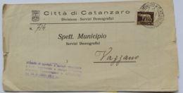 LETTERA 1929 5 C .  TIMBRO CATANZARO (AX15 - 1900-44 Vittorio Emanuele III