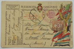 CARTOLINA IN FRANCHIGIA CON SEGNATASSE 30 C. (AX45 - 1900-44 Victor Emmanuel III