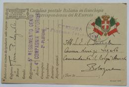CARTOLINA IN FRANCHIGIA 5 REGGIMENTO GENIO (AX48 - 1900-44 Victor Emmanuel III