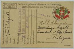 CARTOLINA IN FRANCHIGIA 5 REGGIMENTO GENIO (AX49 - 1900-44 Victor Emmanuel III