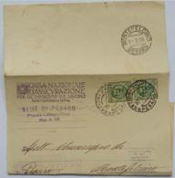 LETTERA 1928 2X25 C. TIMBRO MONTELCINO PESARO-INFORTUNI SUL LAVORO (AX62 - Storia Postale