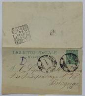 BIGLIETTO POSTALE INTERO 1905 5 C. TIMBRO BOLOGNA (AX131 - 1900-44 Victor Emmanuel III