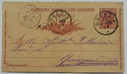 INTERO POSTALE 1892 C. 7,5  TIMBRO BRESCIA (AX135 - 1878-00 Umberto I