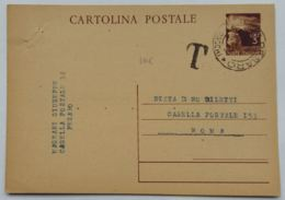 INTERO POSTALE L.3 1947 TIMBRO PESARO (TASSATA ?) (AX155 - 6. 1946-.. Repubblica