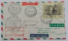LETTERA 1975 POSTA A MEZZO ELICOTTERO  VATICANO -CON FIRMA PILOTA (AX170 - 1971-80: Marcophilie