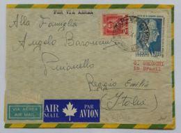 LETTERA 1958 BRASILE DIRETTA REGGIO EMILIA (AX197 - Covers & Documents