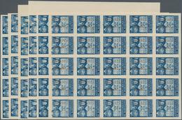 Spanien - Zwangszuschlagsmarken Für Barcelona: 1942, Town Hall Of Barcelona 5c. Blue In Five IMPERFO - Impuestos De Guerra