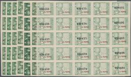 Spanien - Zwangszuschlagsmarken Für Barcelona: 1942, Town Hall Of Barcelona 5c. Green In Four IMPERF - Impuestos De Guerra