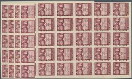 Spanien - Zwangszuschlagsmarken Für Barcelona: 1942, Town Hall Of Barcelona 5c. Lilac-red In Four IM - Impuestos De Guerra