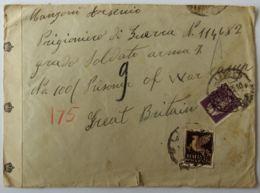 LETTERA 1945 LUOGOTENENZA 50+50 PA DIRETTA GRAN BRETAGNA PRIGIONIERO DI GUERRA (AX294 - 1944-46 Lieutenance & Humbert II