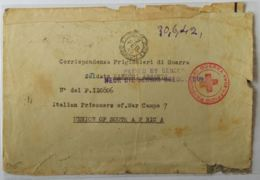 LETTERA 1942 (CATTIVO STATO) DURETTA SUD AFRICA PRIGIONIERI DI GUERRA CROCE ROSSA (AX297 - 1900-44 Victor Emmanuel III