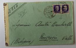 LETTERA 1943 2X50 PM PM 81 CENSURA (AX298 - 1900-44 Victor Emmanuel III