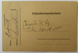 CARTOLINA FELDPOSTE 1915 -POESIA ITALIANA (AX305 - 1900-44 Victor Emmanuel III