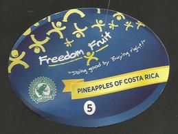 # PINEAPPLE FREEDOM FRUIT Size 5 (Type 2) Fruit Tag Balise Etiqueta Anhanger Ananas Pina Costa Rica - Fruits & Vegetables