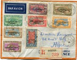 A. E. F. LETTRE RECOMMANDEE PAR AVION DEPART BANGUI 4 OCT 38 OUBANGUI-CHARRI POUR L'ALGERIE - Brieven En Documenten