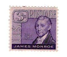 Etats Unis D'Amérique USA  US 641  1958  James Monroe 5th President  Chef D'état | Personnalités - Stati Uniti