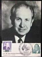 "Spain, Uncirculated And Stamped Maximum Card, ""Famous People"", ""Juan Antonio Samaranch"", 2002 - Barcelona"