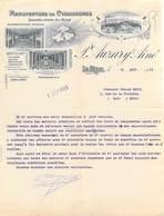 Lettre De 1913 P. AUZARY Ainé LA REOLE 33 - Manufacture De Chaussures Pour Mr Ravel Nîmes*PRIX FIXE - Frankrijk