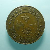 Hong Kong 1 Cent 1923 - Hongkong