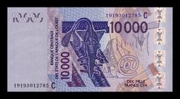 West African Burkina Faso 10000 Francs 2019 Pick 318c New SC UNC - Burkina Faso