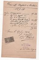 FACTURE TIMBREE ETUDE DE Me DEYRE HUISSIER Bd VICTOR HUGO A NIMES - 1897 - Frankrijk