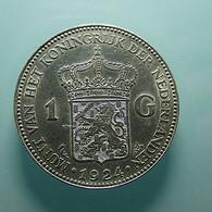 Netherlands 1 Gulden 1924 Silver - [ 3] 1815-… : Koninkrijk Der Nederlanden